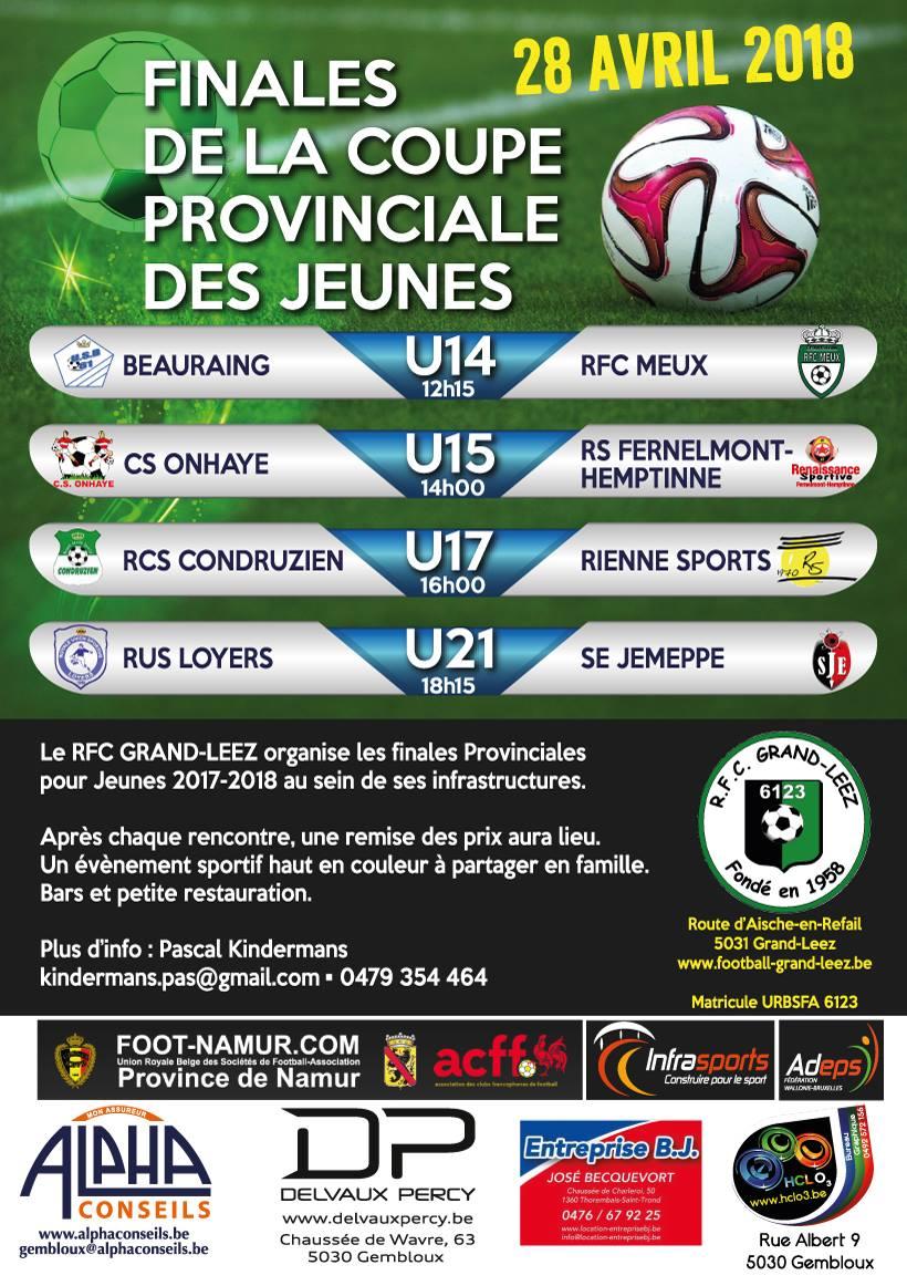 Finale coupe province jeunes 2018
