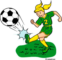 Woman playing soccer clip art 1092155
